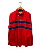 ()の古着「ボタンダウンシャツ」|レッド