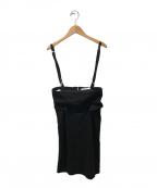 TOGA ARCHIVES()の古着「コルセット付きスカート」|ブラック