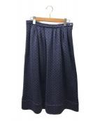 ()の古着「総柄スカート」|ブルー