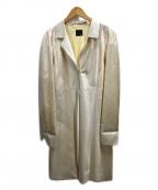 FENDI(フェンディ)の古着「ズッカ柄スプリングコート」|アイボリー