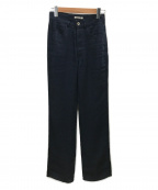 AURALEE(オーラリー)の古着「LINEN DOUBLE FACE 5P PANTS」|ネイビー