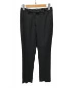 ()の古着「センタープレスパンツ」|ブラック