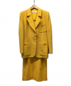 Yves Saint Laurent()の古着「[古着]ヴィンテージセットアップスーツ」|イエロー