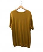 FUJITO(フジト)の古着「Short Sleeve Knit T-Shirt」 マスタード