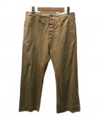 OLD JOE & Co.(オールドアンドジョー)の古着「シンチバッグワークパンツ」|ベージュ