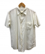 Martin Margiela 10(マルタンマルジェラ 10)の古着「カットオフ半袖シャツ」|アイボリー