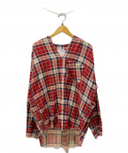 OLD PARK(オールドパーク)の古着「プルオーバーシャツ」|レッド