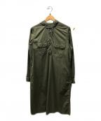 FWk Engineered Garments(エフダブリューケーエンジニアードガーメンツ)の古着「シャツワンピース」|オリーブ