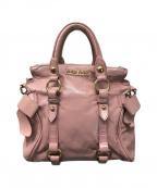MIU MIU()の古着「2WAYバッグ」|ピンク