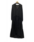 ()の古着「楊柳ロングワンピース」|ブラック