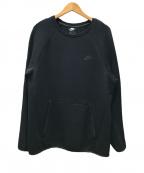 NIKE(ナイキ)の古着「テックフリース クルーネック スウェット」|ブラック