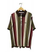 ()の古着「VERTICAL STRIPE PIQUE POLO SHI」|ブラウン