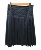 PRADA()の古着「プリーツスカート」 ネイビー