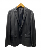 JOSEPH HOMME(ジョゼフ オム)の古着「ラムレザーテーラードジャケット」 ブラック