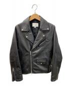 BEAUTY&YOUTH(ビューティアンドユース)の古着「シープレザーダブルライダースジャケット」 ブラック
