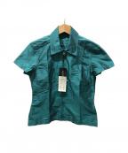 GUCCI()の古着「S/Sサテンシャツ」 グリーン