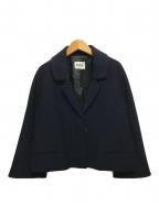 ISSA LONDON(イッサロンドン)の古着「ショートジャケット」|ネイビー