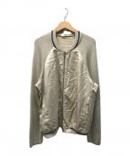 Zanone(ザノーネ)の古着「切替ニットジャケット」|ベージュ