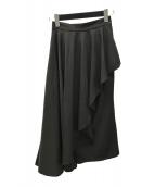 ()の古着「SIDE FLARE LAYERED SK/ロングスカート」|ブラック