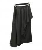 Ameri VINTAGE()の古着「SIDE FLARE LAYERED SK/ロングスカート」|ブラック