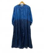 ADIEU TRISTESSE LOISIR(アデュートリステス ロワズィール)の古着「段染めラミーワンピース」|ネイビー
