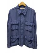 ()の古着「別注ミリタリーシャツジャケット」 ネイビー