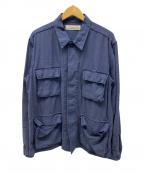 REMI RELIEF × BEAMS PLUS(レミレリーフ × ビームスプラス)の古着「別注ミリタリーシャツジャケット」 ネイビー
