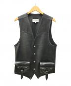 Maison Margiela 14(メゾンマルジェラ14)の古着「REPLICA レザー ベスト」 ブラック