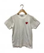 PLAY COMME des GARCONS(プレイコムデギャルソン)の古着「ハートワッペンTシャツ」|ホワイト