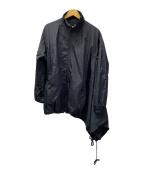 Y-3(ワイスリー)の古着「アシンメトリーナイロンジャケット」 ブラック
