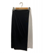 ()の古着「配色切替スカート」 ブラック