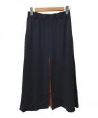PS Paul Smith(PSポールスミス)の古着「フロントスリットロングスカート」|ネイビー