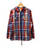 HUMAN MADE(ヒューマンメイド)の古着「フーデッドジャケット」|レッド×ブルー