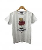 RALPH LAUREN(ラルフローレン)の古着「ポロベアプリントTシャツ」 ホワイト