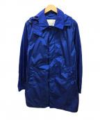 MACKINTOSH(マッキントッシュ)の古着「ナイロンフーテッドステンカラーコート」|ブルー