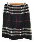 BURBERRY LONDON()の古着「ウールスカート」|ブラック