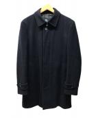 ()の古着「メルトンステンカラーコート」 ネイビー