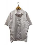 ()の古着「ストライプ半袖シャツ」 パープル