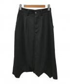 JUNYA WATANABE CdG(ジュンヤワタナベコムデギャルソン)の古着「ポリギャバジンロングスカート」|ブラック