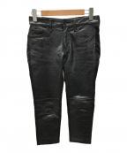 JUNYA WATANABE COMME des GARCONS()の古着「レザー切替パンツ」|ブラック