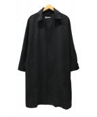 ()の古着「カシミヤ混メルトンコート」 ブラック