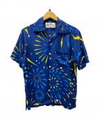 Aloha Blossom(アロハブロッサム)の古着「アロハシャツ」 ネイビー