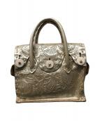 ()の古着「カービングバッグ」|シャンパンゴールド