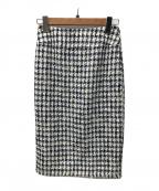 ROPE()の古着「ツイードスカート」|ネイビー
