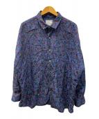 ()の古着「COLOR CAMOUFLAGE BIG SHIRTS」|パープル