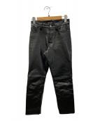 ()の古着「カウレザーパンツ」|ブラック