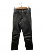 agnes b homme(アニエスベーオム)の古着「カウレザーパンツ」 ブラック
