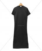 BALLSEY(ボールジィー)の古着「マテリアルコンビバックギャザーワンピース」|ブラック