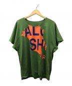 HOMME PLISSE ISSEY MIYAKE(オムプリッセ イッセイミヤケ)の古着「プリントTシャツ」|グリーン