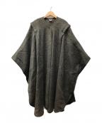 rannoch designs(ラノッチデザイン)の古着「ビックシルエットポンチョ コート」 カーキ
